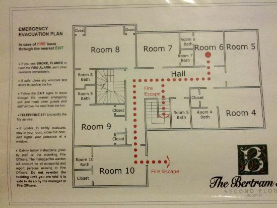 The Bertram Inn: Floor plan 2nd floor