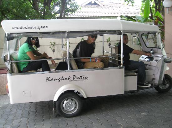 Bangkok Patio: This is the Tuk Tuk we used every morning & evening!