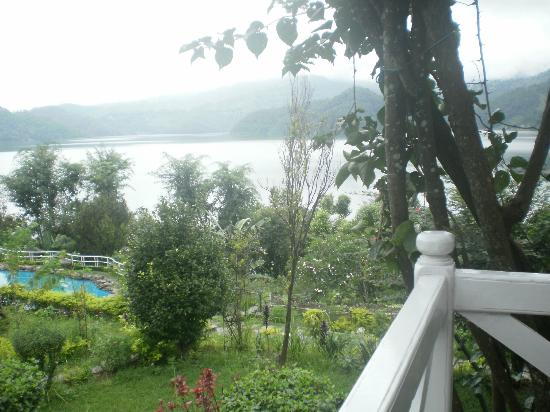 Begnas Lake Resort: View of lake and pool from waterfront suite