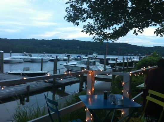Haddam, CT: view of the river from my table