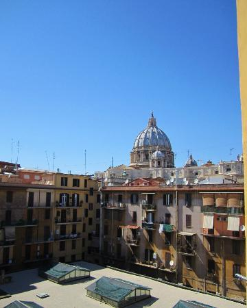 Alle Fornaci a San Pietro: View of the Vatican from our window.