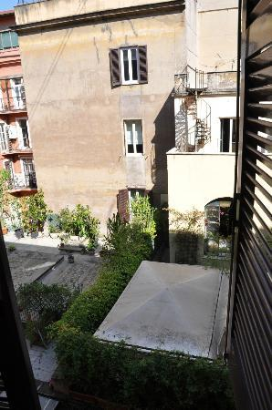 Hotel Galatea: View from our room of the courtyard - very neat!