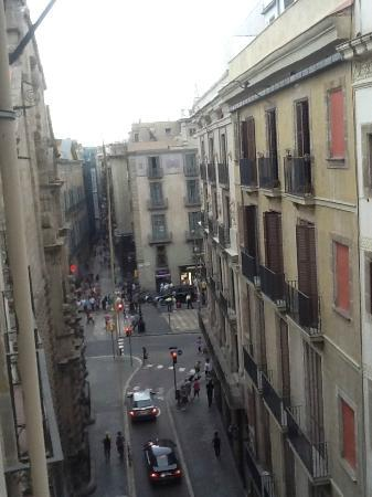 FGA Liceu Apartments: view from little patio door that opens.