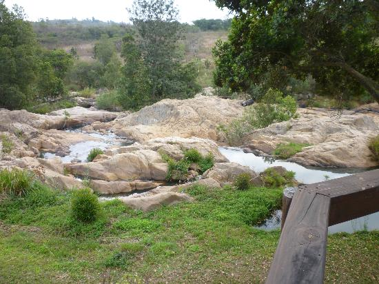 Jatinga Country Lodge: View from riverside deck