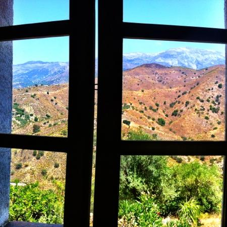 Finca La Maroma: view from my bedroom window
