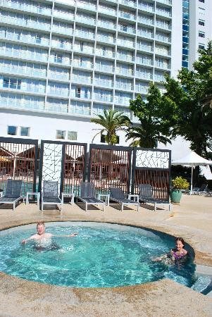 RACV Royal Pines Resort: Deck Chairs beside the spa