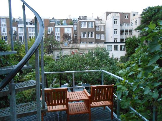 Hotel Synopsis: View from Garden Room via double doors