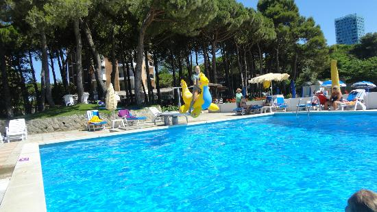 Hotel Beau Rivage Pineta: Lovely pool with pine forest in background