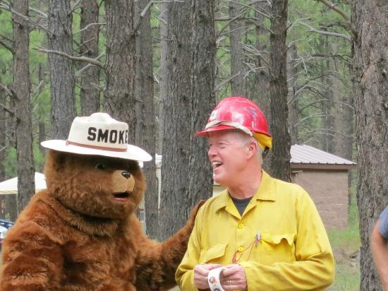 Dogtown Lake Campground: Smokey and Firefighter