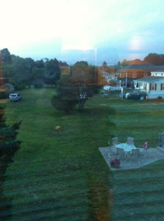Atlantic Inn Resort: living room view from room 22 if u get up early enough u can c rabbits
