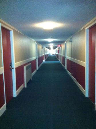 Powder Springs Inn: Corridor to rooms
