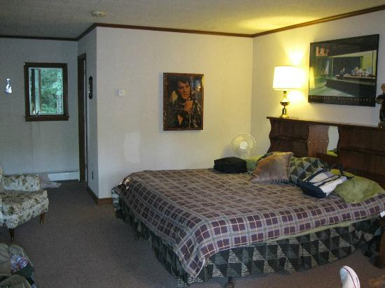 "The Valhaus Motel: The ""king""-sized Elvis Room."