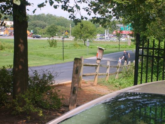Comfort Inn at the Park: Private road