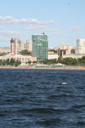 Volga river beach in samara