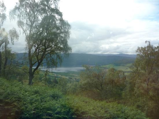 Drumnadrochit Lodges: Ausicht von der Terrasse / view from the terrace