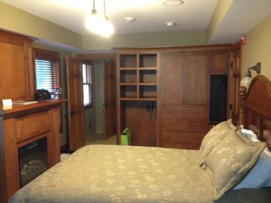 Winona Lake, IN: Bedroom view of the closet space