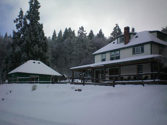 Palomar Mountain, Kalifornien: The Bailey House in the winter