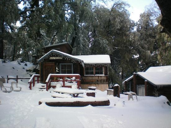 Palomar Mountain, Kalifornien: The Old Oak Cottage in the Winter