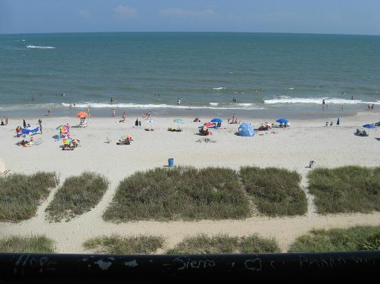 Ocean Plaza Motel: The view from our room. Ocean front