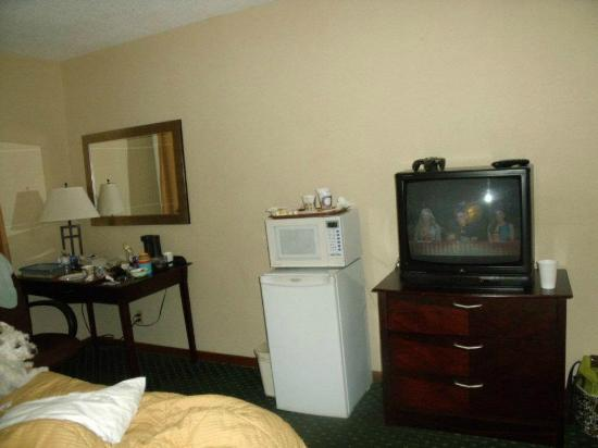 Comfort Inn & Suites: Microwave and mini fridge in the room