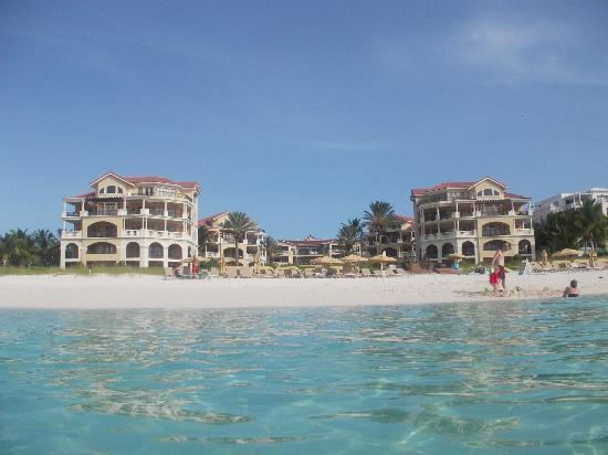The Somerset on Grace Bay: resort from the beach
