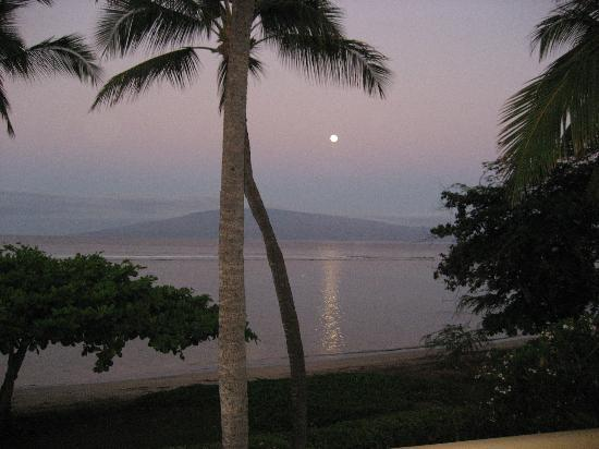 Puunoa Beach Estates: Early, early morning view from lanai
