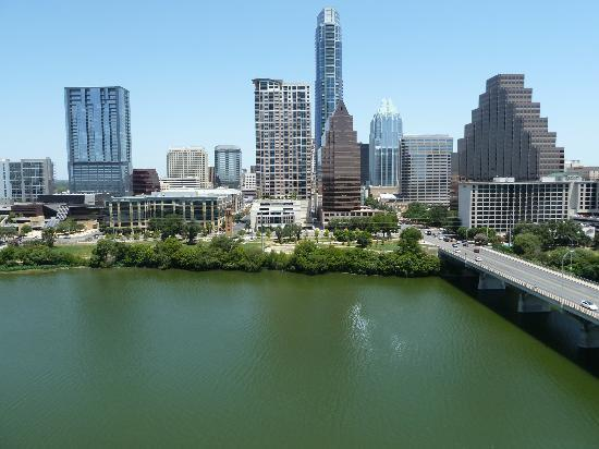 Hyatt Regency Austin: View from the balcony- 16th floor.