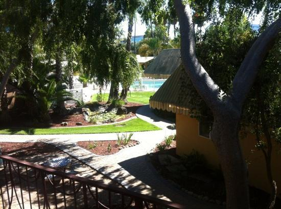 San Jose Airport Garden Hotel: view of the courtyard