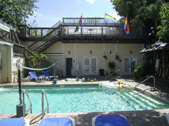 New Orleans House: Pool area - Room 11A is behind double doors