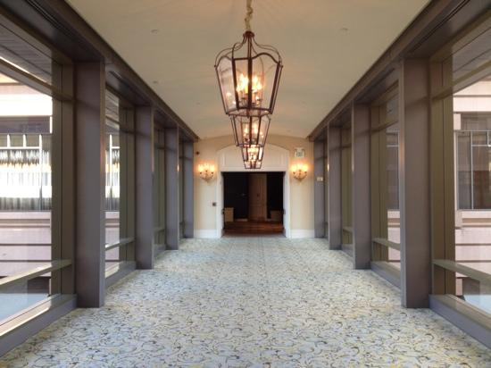 The Fairmont San Jose: walkway