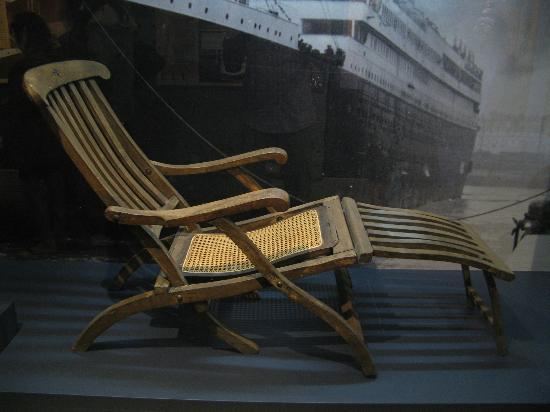 Titanic deck chair Picture of Maritime Museum of the
