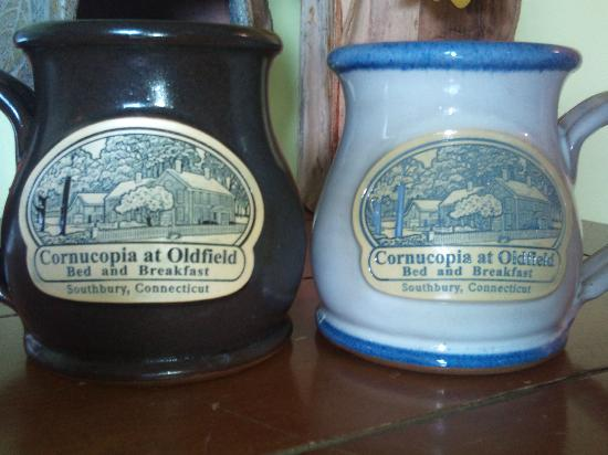 The Cornucopia at Oldfield  Bed & Breakfast: Get cozy with these beautiful Cornucopia mugs!