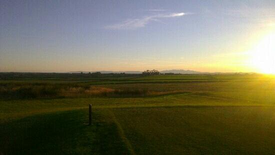 Ayrshire, UK: view to Arran from 15th tee