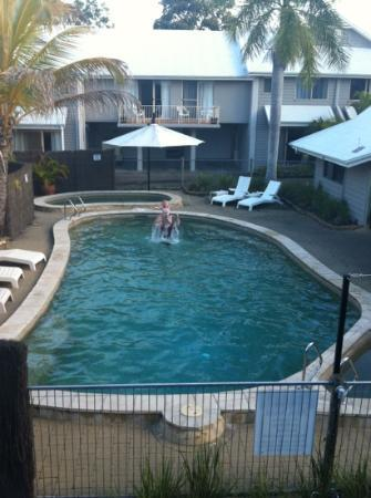 Pelican  Beach Resort: was great to watch the family from our balcony