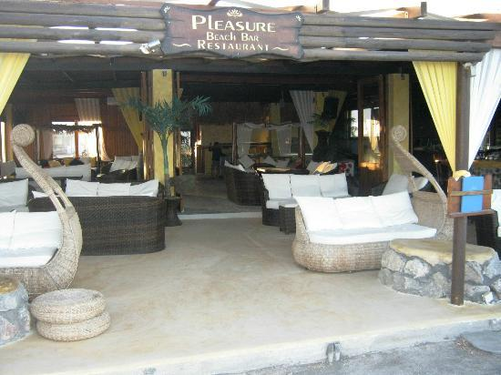 , : pleasure beach-bar restaurant santorini perivolo