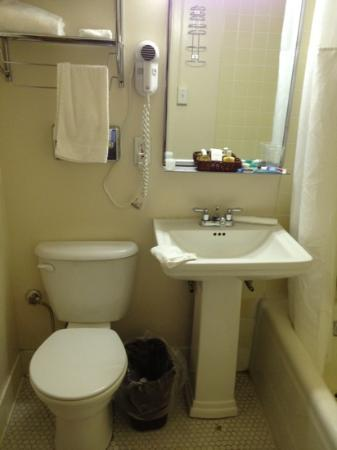 Hotel Saranac: The sink and toilet were both loose