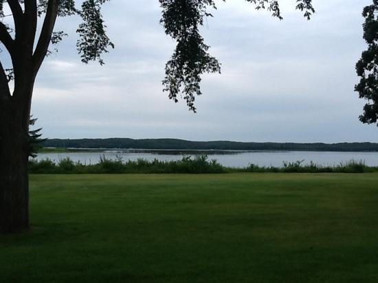 Maddens Resort on Gull Lake: View from room.