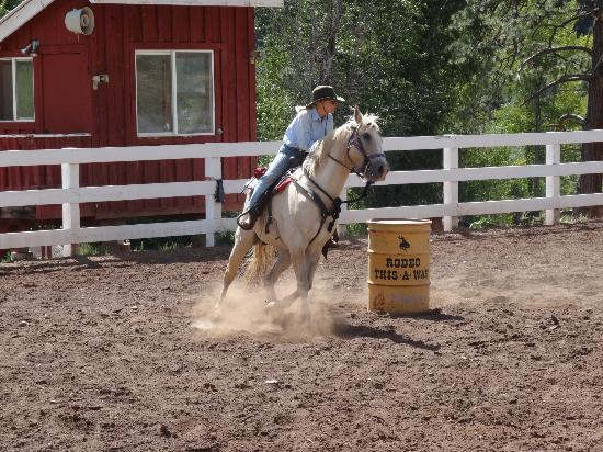 Colorado Trails Ranch: Barrel racing!