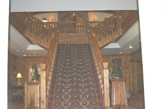 The Wort Hotel: Staircase upon entering front door of hotel