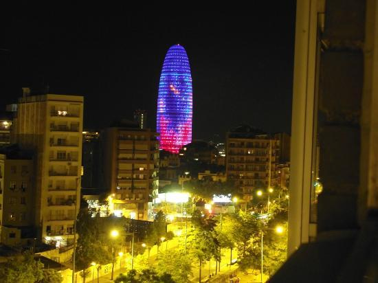 Agbar tower from our room by night picture of catalonia - Avda meridiana 156 ...