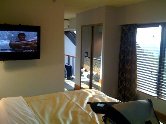 Woodcliff Hotel and Spa: Bedroom in the suite, upper floor.