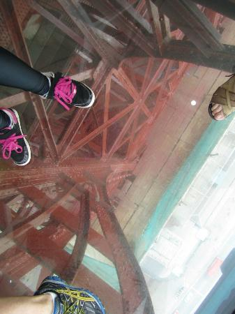 The glass floor near the top of the tower picture of for Flooring near my location