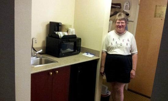 Holiday Inn Hotel &amp; Suites Asheville Downtown: wet bar, micro, fridge, coffee maker, and iron.