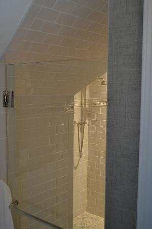 The Grand Hotel: unusual shower in room