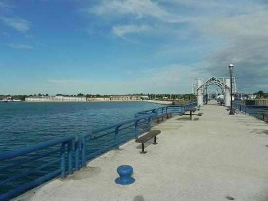 Super 8 Mackinaw City/Beachfront Area: Wide view from dock