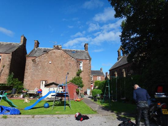 Annan, UK: Rear garden and car parking