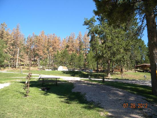 Horse Thief Campground: views of campground