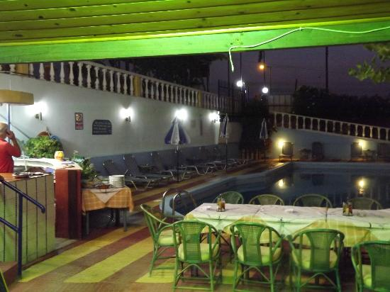 Villa Marina: Pool and BBQ area.