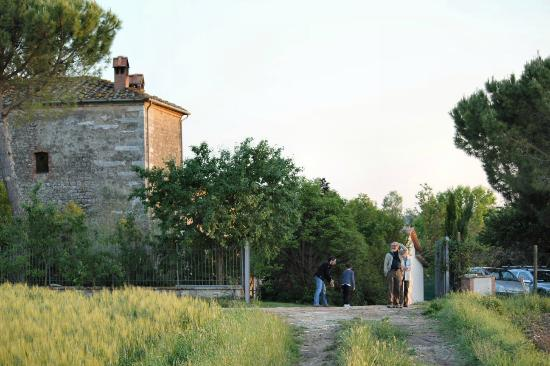 Agriturismo Il Molinello: Sandro with guests on the grounds