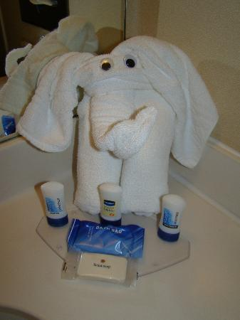 Fairfield Inn Atlantic City North: A towel animal in the bathroom made us feel welcome and like we were on a cruise!